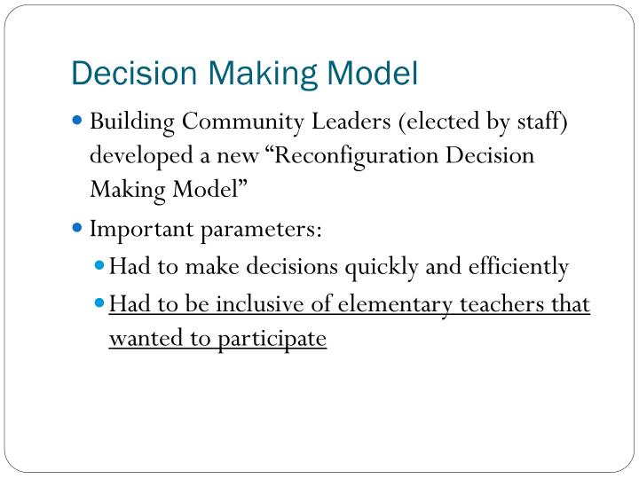 Decision Making Model