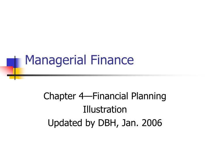 managerial finance n.