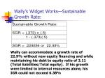 wally s widget works sustainable growth rate