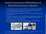 antiviral treatment for h1n1 influenza a swine flu infections in humans