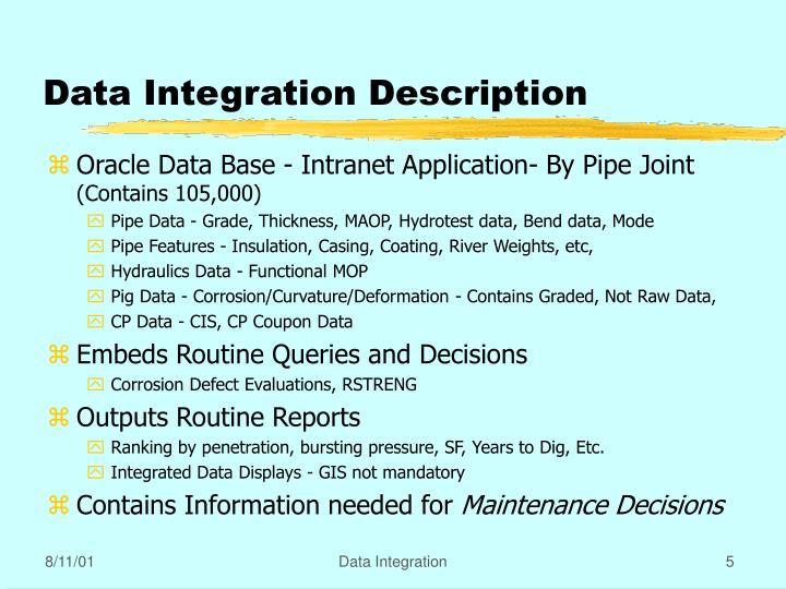 Data Integration Description