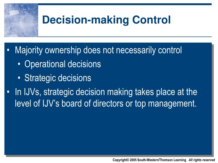 Decision-making Control