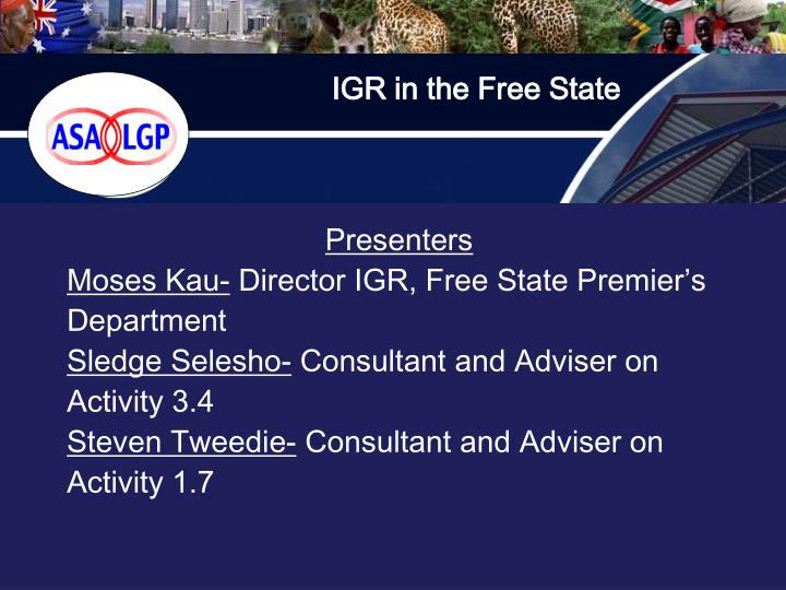 IGR in the Free State
