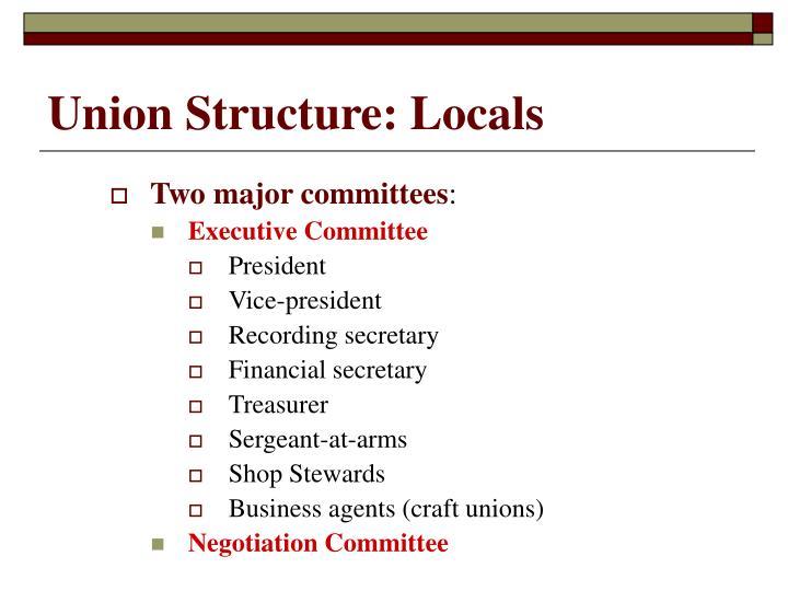Union Structure: Locals