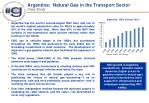 argentina natural gas in the transport sector case study