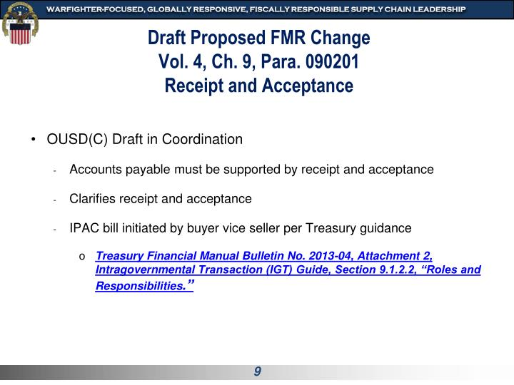 Draft Proposed FMR Change