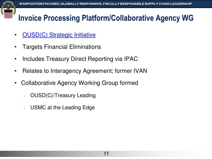 Invoice Processing Platform/Collaborative Agency WG