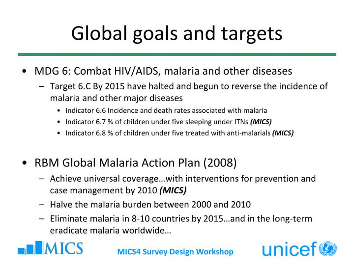Global goals and targets