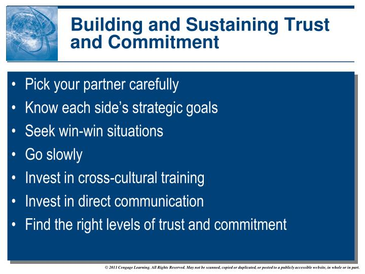 Building and Sustaining Trust and Commitment