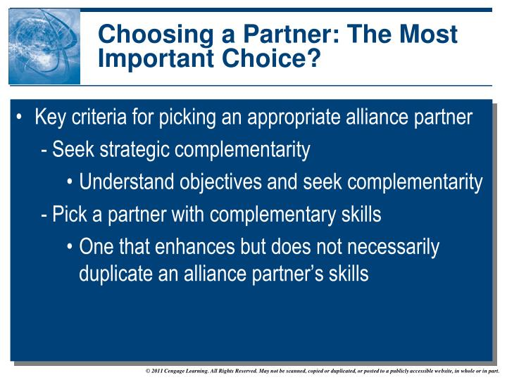 Choosing a Partner: The Most Important Choice?