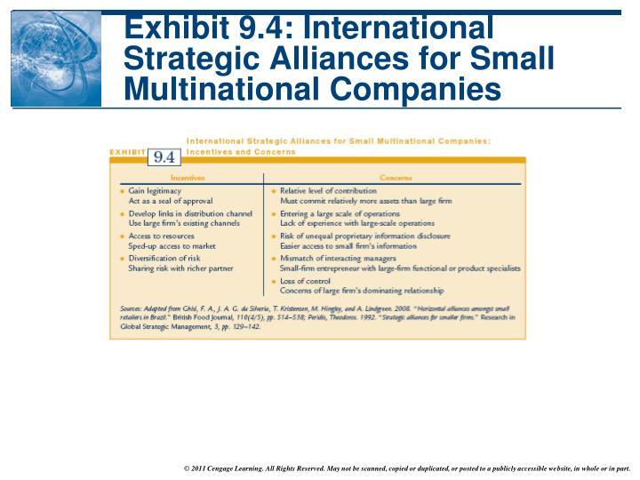 Exhibit 9.4: International Strategic Alliances for Small Multinational Companies
