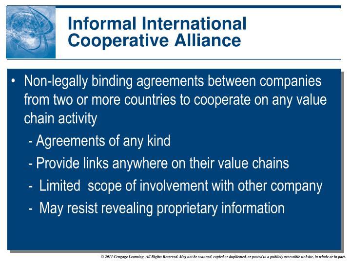 Informal International Cooperative Alliance