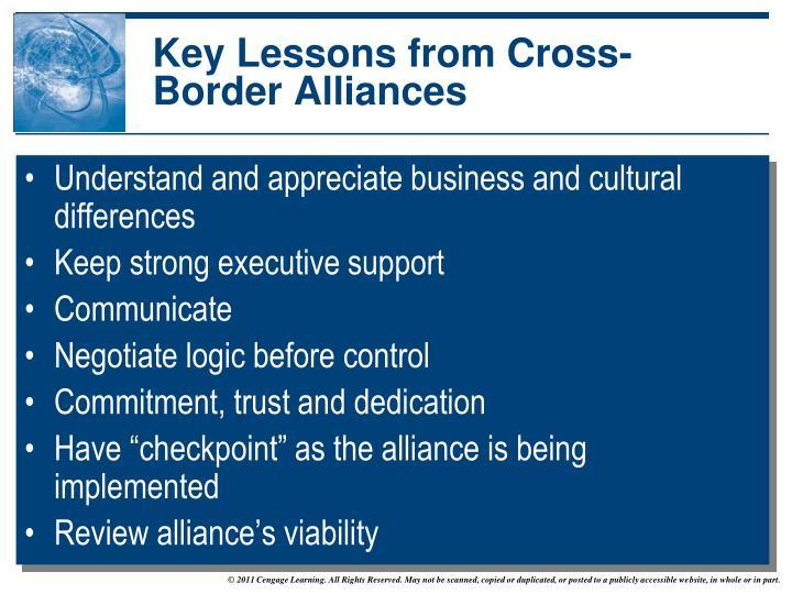 Key Lessons from Cross-Border Alliances