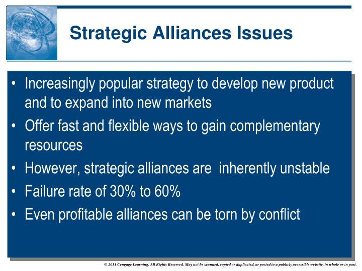Strategic Alliances Issues