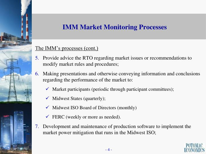 The IMM's processes (cont.)