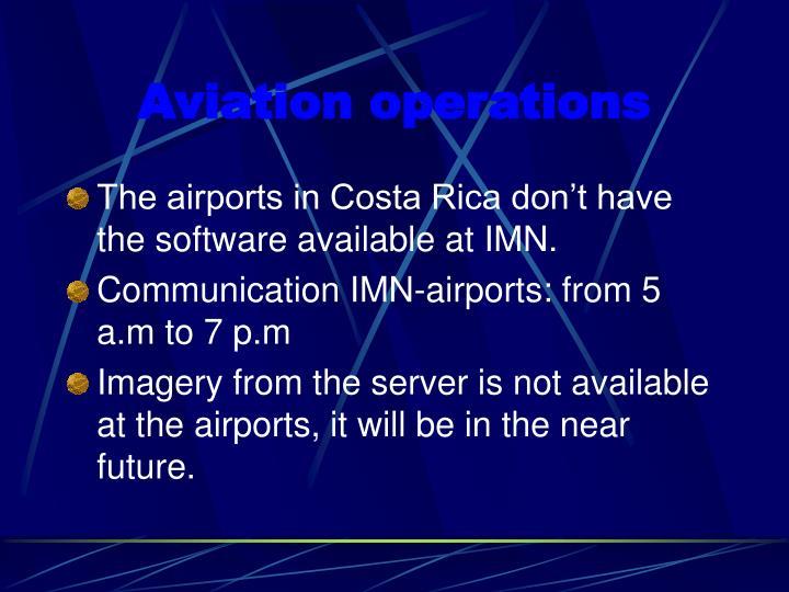 Aviation operations