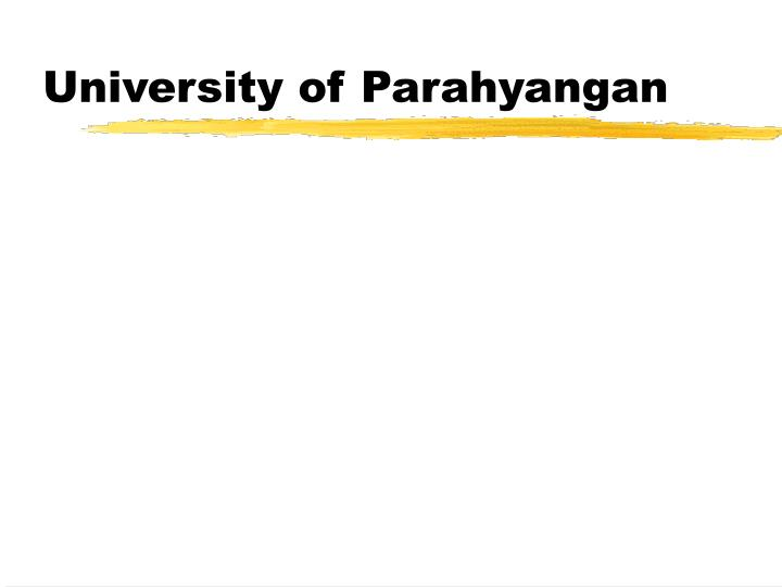 University of Parahyangan