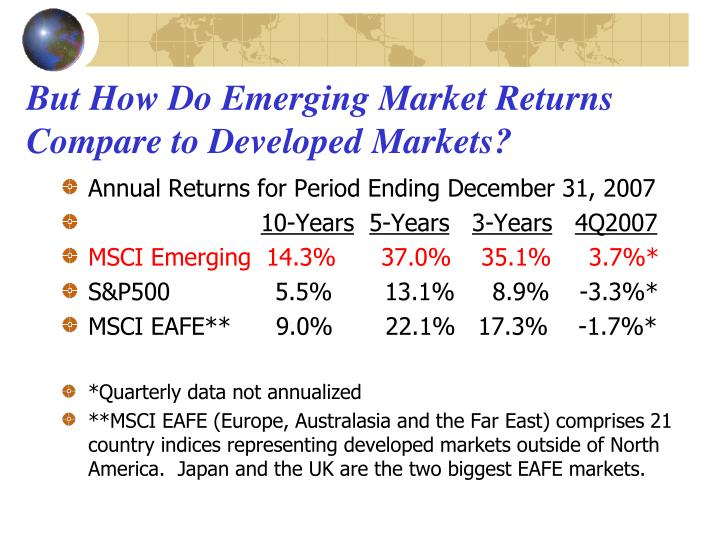 But How Do Emerging Market Returns Compare to Developed Markets?