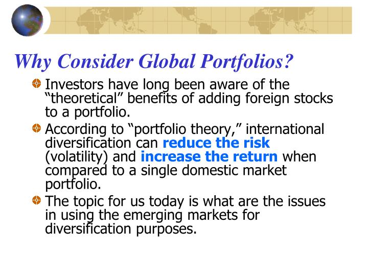 Why Consider Global Portfolios?