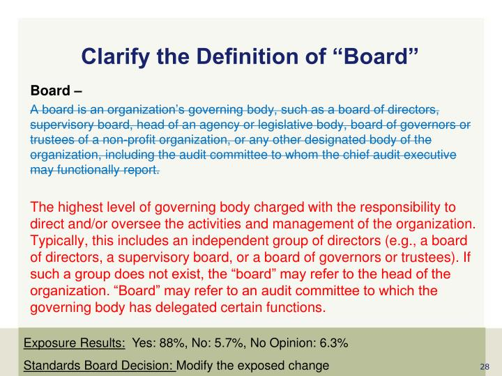 """Clarify the Definition of """"Board"""""""