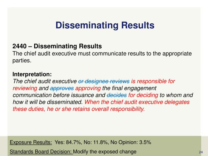 Disseminating Results