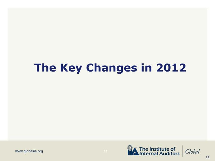 The Key Changes in 2012