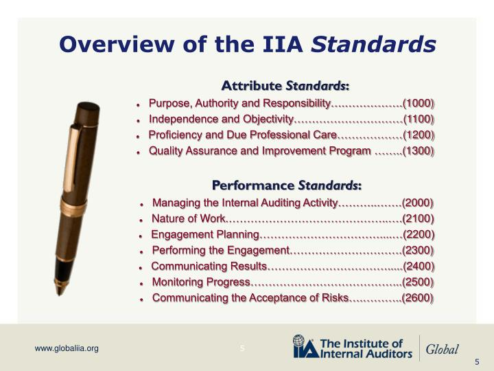 Overview of the IIA