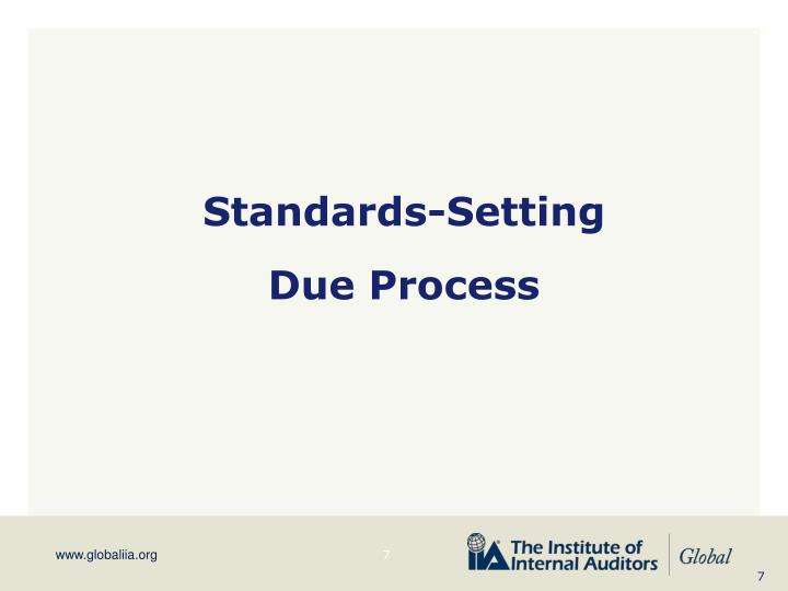 Standards-Setting