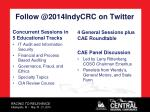 follow @ 2014indycrc on twitter