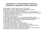 assignment 3 contemporary issues in materials chemistry mini symposium6