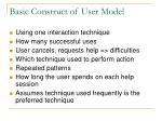basic construct of user model