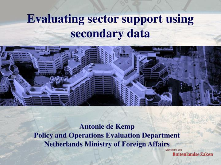Evaluating sector support using secondary data