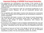 important findings of aprprp final impact evaluation