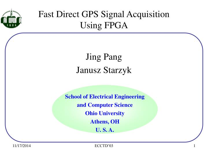 fast direct gps signal acquisition using fpga n.