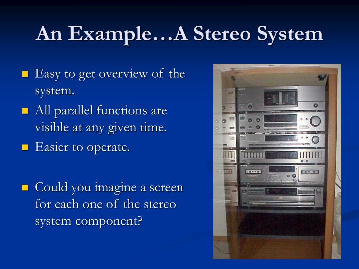 An Example…A Stereo System