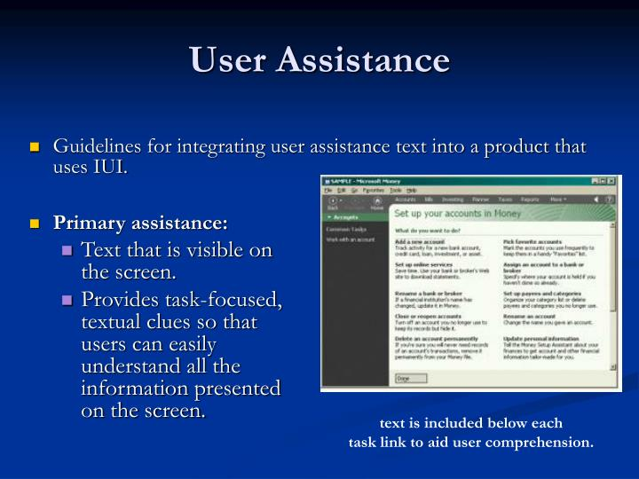 Primary assistance: