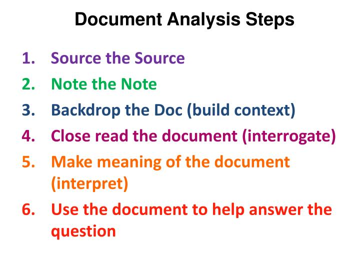Document Analysis Steps