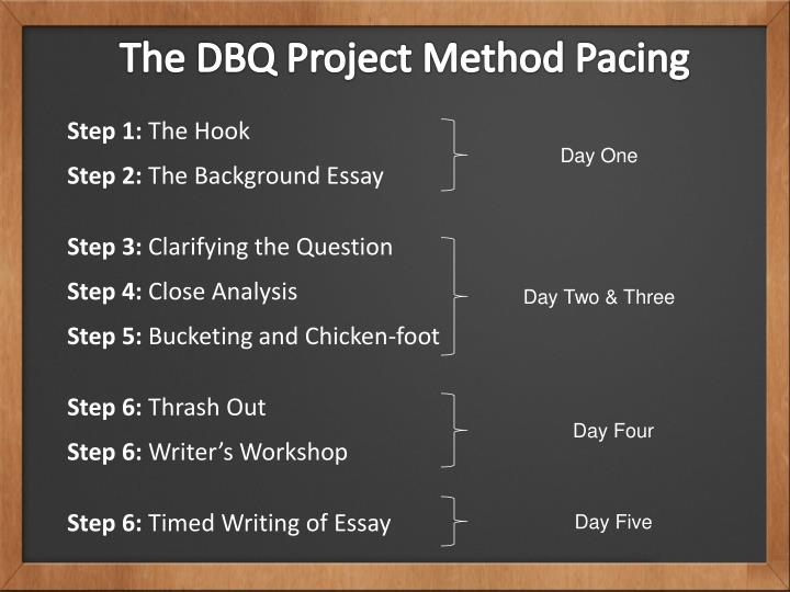 The DBQ Project Method Pacing