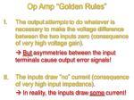 op amp golden rules