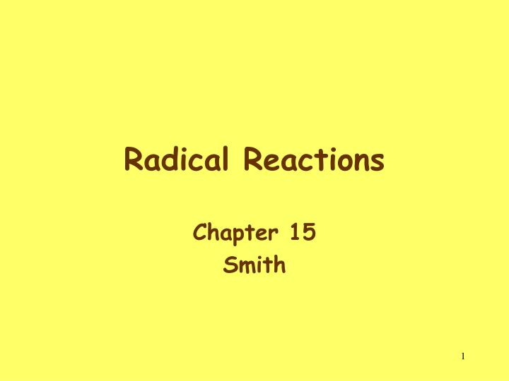 radical reactions n.
