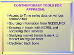 contmeporary tools for appraisal