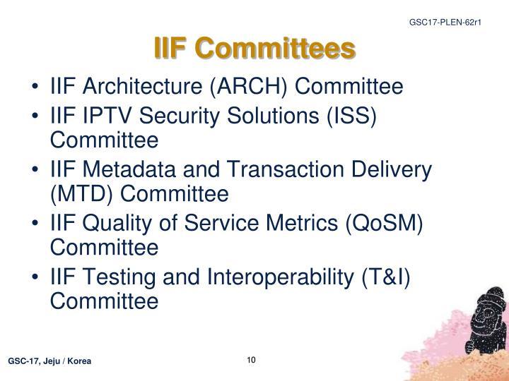 IIF Committees