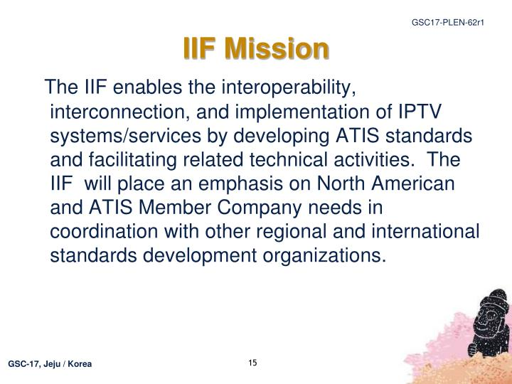 IIF Mission