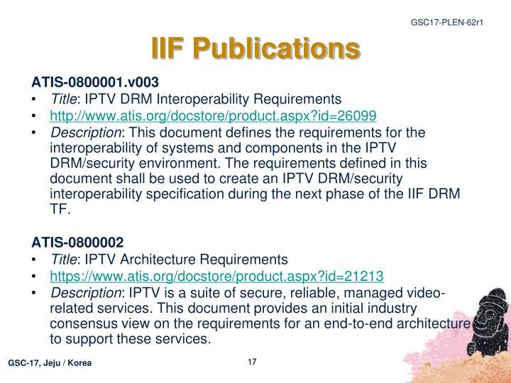 IIF Publications