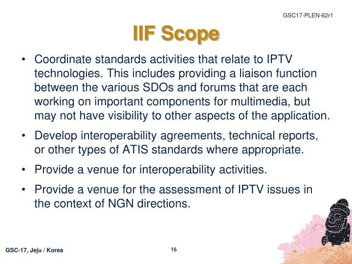 IIF Scope