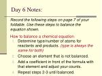 day 6 notes