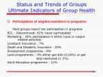 status and trends of groups ultimate indicators of group health4