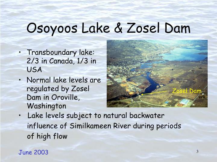 Osoyoos lake zosel dam