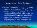 association rule problem
