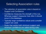 selecting association rules